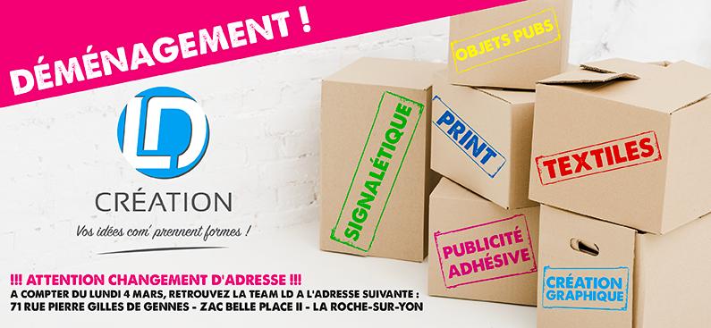 LD Creation, agence de communication en Vendée 85 déménage